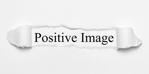Positive Image on white torn paper