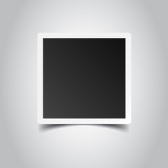 Photo frame on gray background. For your photography and picture. Vector illustration