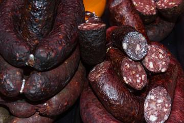 sausage, steak and meat at citymarket