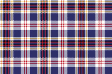 Blue tartan plaid seamless fabric texture
