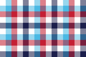 Check pixel plaid seamless pattern