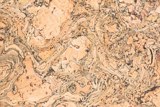 texture of cork board wood surface, natural wooden decorative panel, brown abstract background