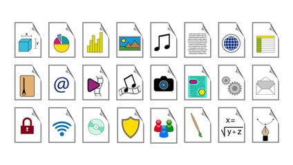 Set icone dei tipi di file per computer