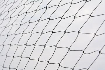Net pattern. Rope net silhouette. Soccer and football net pattern.