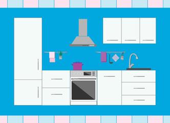 Stock Video Of Modern Kitchen Interior Design With Furniture 2d