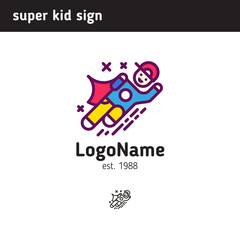 Sign super child, suitable for school or extra classes in child development