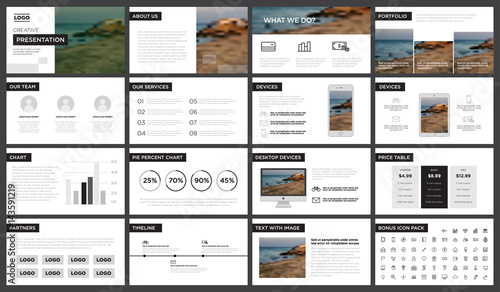 minimal black and white presentation template. you can use it, Presentation templates