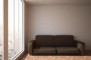 Sofa in clean interior