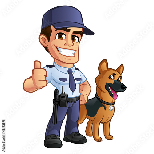 nice security guard he s dressed in uniform stock image and