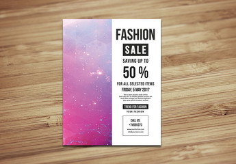 Clothing Sale Flyer Layout