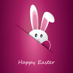 Happy Easter Card With Funny Bunny