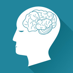 profile head brain health image vector illustration eps 10