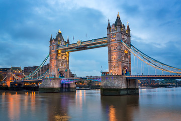 Foto op Canvas London Tower Bridge and River Thames in the Morning, London, United Kingdom