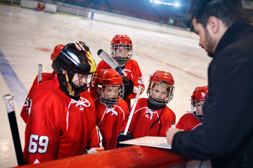 Formation game plan tactics in hockey.