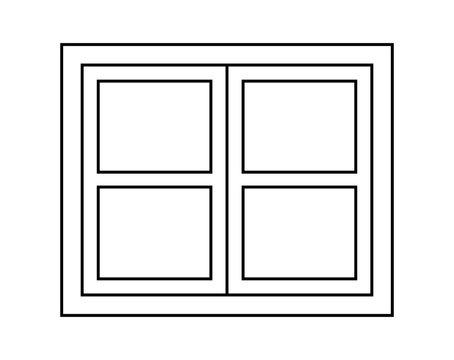 Window silhouette vector symbol icon design.