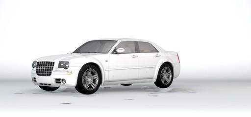 3d rendering of a car inside a studio