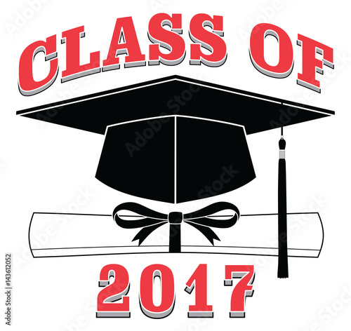 quotclass of 2017 graduation is an illustration of a design