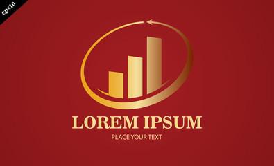 gold business finance stock arrow logo
