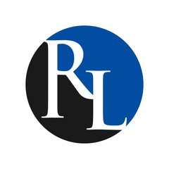 letter R and L logo vector.