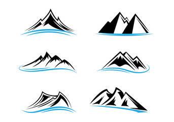 mountain icon two colors