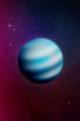 Planet Neptune background. Vector