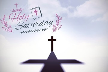 Composite image of easter message