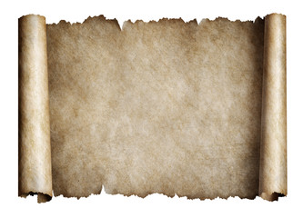 Old manusript scroll or parchment