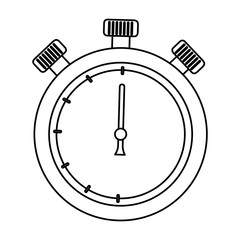 chronometer time isolated icon