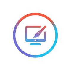 Three-Color Line App Icon