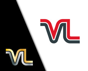 Initial Letter VL Linked Design Logo