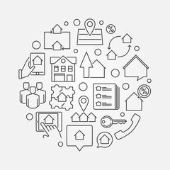 Real estate business concept illustration