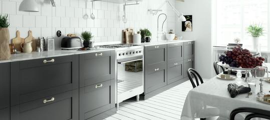 Modern Kitchen Arrangement (panoramic)