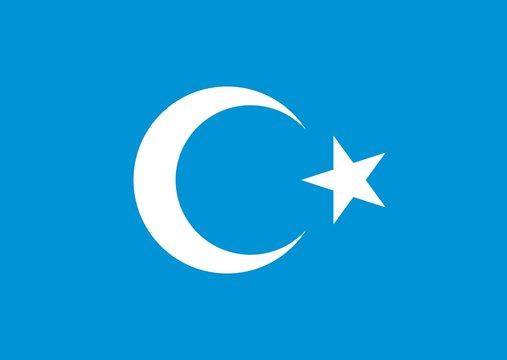 crescent star logo vector. xinjiang logo. uyghurs symbol.