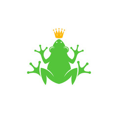 Frog with crown. Logo