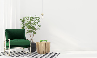 Interior with green armchair