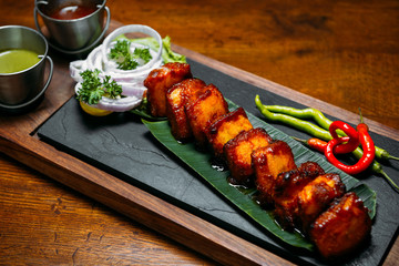 Indian dish paneer tikka