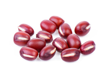 Adzuki Bean on white background