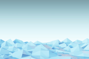 Abstract ice, light blue