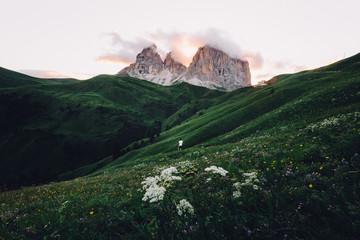 Italian mountainscape at sundown
