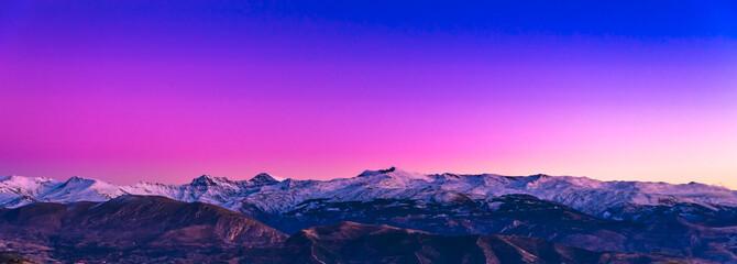 Sierra Nevada, atardecer