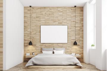 Light wood bedroom, front