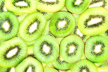 Fresh kiwi fruit green for background texture.