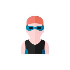 Flat icon - Swimming athlete