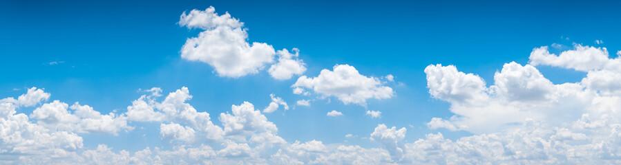 blue sky background.