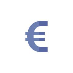 Flat icon - Euro symbol