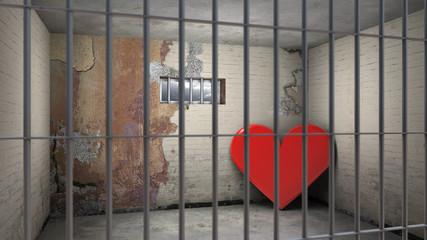 Herz hinter Gittern - unglücklich verliebt