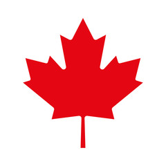 Maple leaf icon. Canadian symbol. Vector illustration.