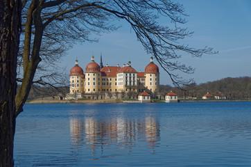 Schloss Moritzburg und Schlossteich