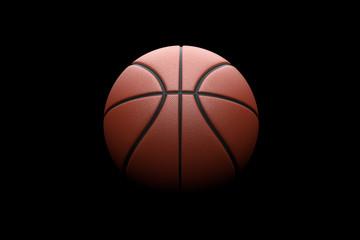Basketball on black background. 3D illustration