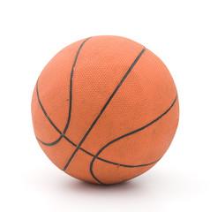 Ordinary Orange Basketball isolated on White